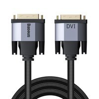 Baseus Enjoyment Series DVI Male To DVI Male bidirectional Adapter Cable 2m gray (CAKSX-R0G)