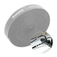 Baseus Rainbow Circle hook and loop Straps to organizing cables 3m Gray (ACMGT-F0G)