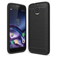 Carbon Case Flexible Cover TPU Case for Motorola Moto G5S Plus black