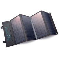 Choetech Foldable Solar Charger Solar Photovoltaic 36W Quick Charge Power Delivery USB / USB Type C (94 x 36 cm) Gray (SC006)