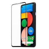 Dux Ducis 10D Tempered Glass Tough Screen Protector Full Coveraged with Frame for Google Pixel 4A black (case friendly)