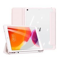 Dux Ducis Toby armored tough Smart Cover for iPad 10.2'' 2020 / iPad 10.2'' 2019 with a holder for Apple Pencil pink