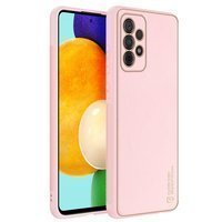 Dux Ducis Yolo elegant case made of soft TPU and PU leather for Samsung Galaxy A52 5G / A52 4G pink