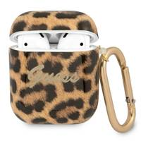 Guess GUA2USLEO AirPods cover gold / gold Leopard Collection