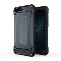 Hybrid Armor Case Tough Rugged Cover for Huawei Y6 2018 blue