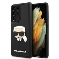 Karl Lagerfeld KLHCS21LKH3DBK S21 Ultra G998 czarny/black hardcase 3D Rubber Karl`s Head