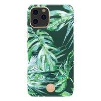 Kingxbar Blossom case decorated with original Swarovski crystals iPhone 11 Pro Max multicolour (Leaf)