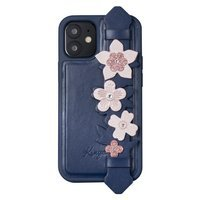 Kingxbar Sweet Series case decorated with original Swarovski crystals iPhone 12 Pro Max blue