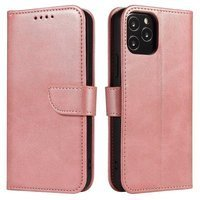 Magnet Case elegant bookcase type case with kickstand for Huawei P Smart 2019 pink