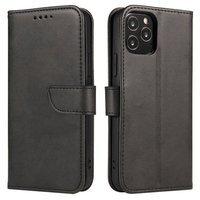 Magnet Case elegant bookcase type case with kickstand for Motorola Moto G9 Play / Moto E7 Plus black