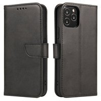 Magnet Case elegant bookcase type case with kickstand for OnePlus 8T black