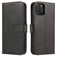 Magnet Case elegant bookcase type case with kickstand for Samsung Galaxy A11 / M11 black