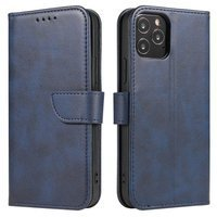 Magnet Case elegant bookcase type case with kickstand for Samsung Galaxy A11 / M11 blue