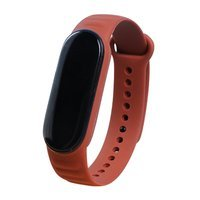 Replacement TPU leather band strap for Xiaomi Mi Band 6 / Mi Band 5 brown