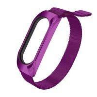 Replacment metal band bracelet strap for Xiaomi Mi Band 5 / Mi Band 4 / Mi Band 3 violet