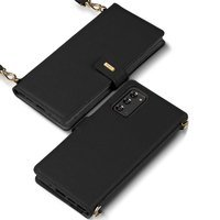Ringke Folio Signature genuine leather case with flap and shoulder strap for Samsung Galaxy Note 20 black (FS79R55)