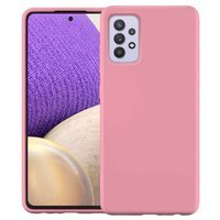 Silicone Case Soft Flexible Rubber Cover for Samsung Galaxy A32 4G pink