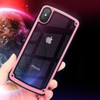 Solid Frame PC Case with TPU Bumper for Huawei Y7 2019 / Y7 Prime 2019 pink