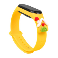 Strap Xmas replacement band strap for Xiaomi Mi Band 4 / Mi Band 3 Christmas holidays yellow (lodge)