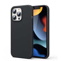 Ugreen Protective Silicone Case Soft Flexible Rubber Cover for iPhone 13 Pro Max black