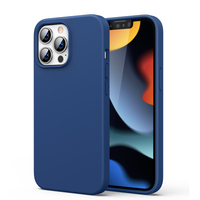 Ugreen Protective Silicone Case Soft Flexible Rubber Cover for iPhone 13 Pro Max blue