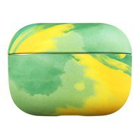 Watercolor AirPods Case colorful hard case for AirPods Pro yellow