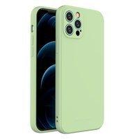 Wozinsky Color Case silicone flexible durable case iPhone 12 Pro green