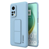 Wozinsky Kickstand Case flexible silicone cover with a stand Xiaomi Mi 10T Pro / Mi 10T light blue