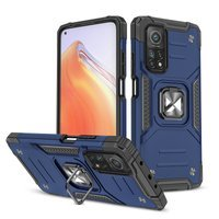 Wozinsky Ring Armor Case Kickstand Tough Rugged Cover for Xiaomi Mi 10T Pro / Mi 10T blue