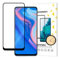 Wozinsky Tempered Glass Full Glue Super Tough Screen Protector Full Coveraged with Frame Case Friendly for Huawei P Smart Z / Huawei P Smart Pro / Honor 9X black