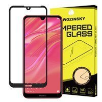 Wozinsky Tempered Glass Full Glue Super Tough Screen Protector Full Coveraged with Frame Case Friendly for Huawei Y6 2019 / Huawei Y6s 2019 / Y6 Pro 2019 black