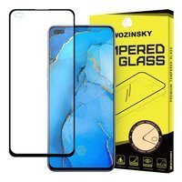 Wozinsky Tempered Glass Full Glue Super Tough Screen Protector Full Coveraged with Frame Case Friendly for Oppo Reno3 Pro black