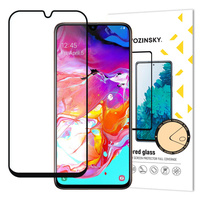 Wozinsky Tempered Glass Full Glue Super Tough Screen Protector Full Coveraged with Frame Case Friendly for Samsung Galaxy A70 black