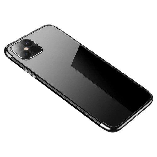 Clear Color Case Gel TPU Electroplating frame Cover for Xiaomi Mi 10T Pro / Mi 10T black