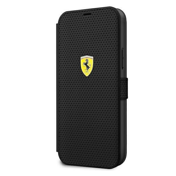 "Ferrari FESPEFLBKP12LBK iPhone 12 Pro Max 6,7 ""black / black book On Track Perforated"