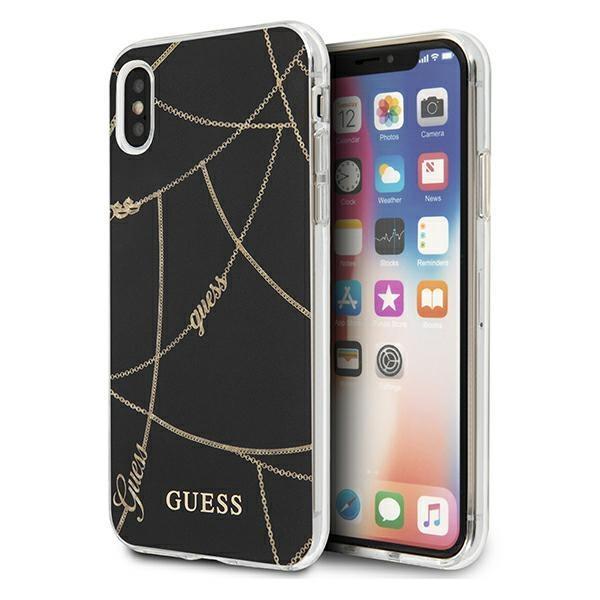 Guess GUHCI65PCUCHBK iPhone Xs Max black / black hardcase Gold Chain Collection
