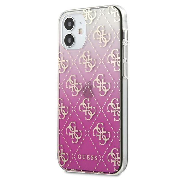 "Guess GUHCP12SPCU4GGPI iPhone 12 mini 5,4 ""pink / pink hardcase 4G Gradient / GUHCP12SPCU4GGPI"