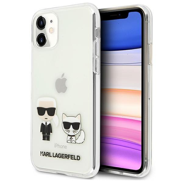 Karl Lagerfeld KLHCN61CKTR iPhone 11 hardcase Transparent Karl & Choupette