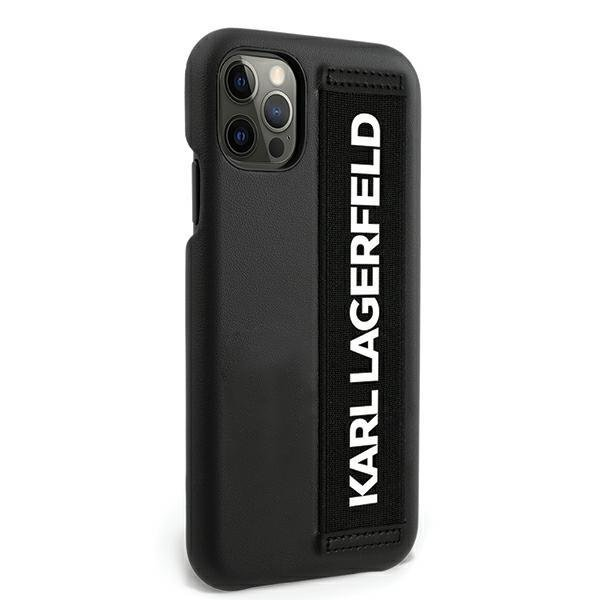 """Karl Lagerfeld KLHCP12MSTKLBK iPhone 12/12 Pro 6.1 """"black / black hardcase"""