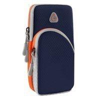 Armband do biegania opaska na ramię sportowe etui na telefon ciemnoniebieski