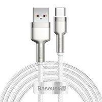 Baseus Cafule Metal Data kabel USB - USB Typ C 66W Quick Charge 2m biały (CAKF000202)