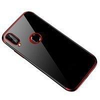 Clear Color case żelowy pokrowiec etui z metaliczną ramką Huawei P Smart 2019 czerwony