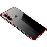 Clear Color case żelowy pokrowiec etui z metaliczną ramką Motorola G8 Plus czerwony