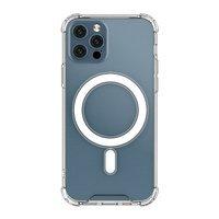 Clear Magnetic Case MagSafe pancerne żelowe elastyczne etui do iPhone 12 Pro / iPhone 12 przezroczysty