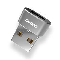 Dudao adapter przejściówka ze złącza USB Type-C na USB czarny (L16AC black)