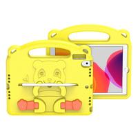 Dux Ducis Panda bezpieczne dla dzieci dziecięce miękkie etui do iPad 10.2'' 2021 / iPad 10.2'' 2020 / iPad 10.2'' 2019 z miejscem na rysik żółty