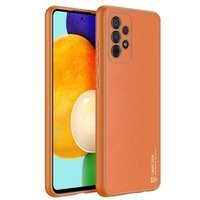 Dux Ducis Yolo eleganckie etui pokrowiec ze skóry ekologicznej Samsung Galaxy A52s 5G / A52 5G / A52 4G / A52s pomarańczowy
