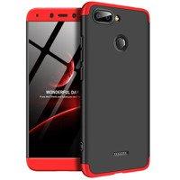 GKK 360 Protection Case etui na całą obudowę przód + tył Xiaomi Redmi 6 czarno-czerwony