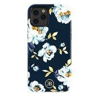 Kingxbar Blossom etui ozdobione oryginalnymi Kryształami Swarovskiego iPhone 12 mini wielokolorowy (Gardenia)