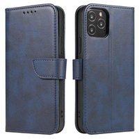 Magnet Case elegancki futerał etui pokrowiec z klapką i funkcją podstawki Samsung Galaxy M31s niebieski
